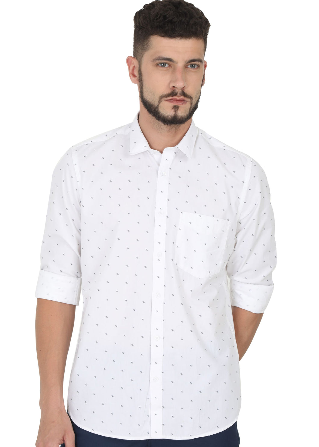 Tusok-minimalVacation-Printed Shirtimage-White Polka (1)