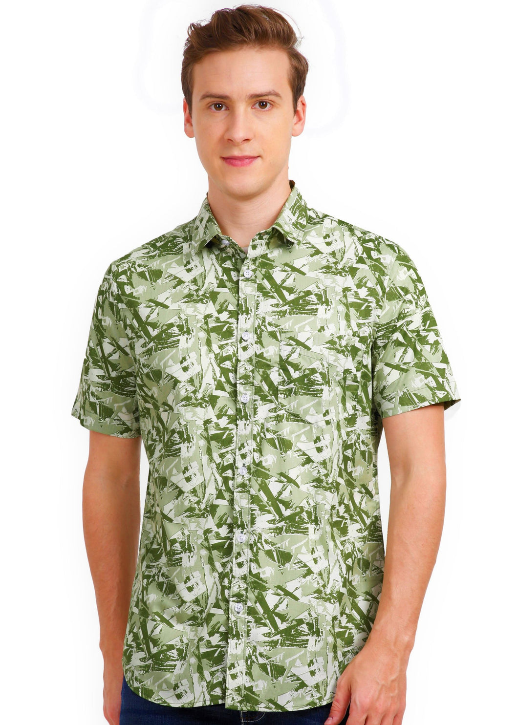 Tusok-mojitoVacation-Printed Shirtimage-Green Zigzag (1)