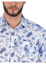 Load image into Gallery viewer, Tusok-neptuneVacation-Printed Shirtimage-Blue Linen (5)