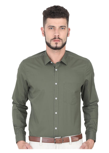 Tusok-olive-greenPlain-Solid Shirtimage-Dark Olive Solid (1)