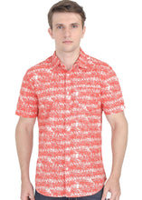 Load image into Gallery viewer, Tusok-orange-palmVacation-Printed Shirtimage-Orange Palm (1)