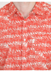 Tusok-orange-palmVacation-Printed Shirtimage-Orange Palm (2)