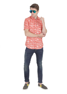 Tusok-orange-palmVacation-Printed Shirtimage-Orange Palm (3)