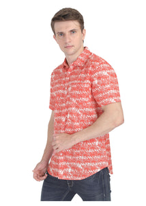 Tusok-orange-palmVacation-Printed Shirtimage-Orange Palm (4)