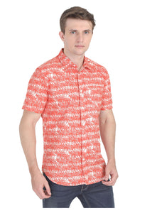 Tusok-orange-palmVacation-Printed Shirtimage-Orange Palm (6)