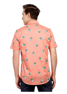 Tusok-pink-pineappleFeatured Shirt, Vacation-Printed Shirtimage-Peach Pineapple (3)