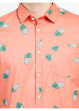 Load image into Gallery viewer, Tusok-pink-pineappleFeatured Shirt, Vacation-Printed Shirtimage-Peach Pineapple (4)