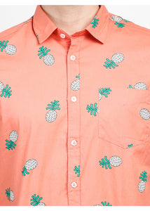 Tusok-pink-pineappleFeatured Shirt, Vacation-Printed Shirtimage-Peach Pineapple (4)