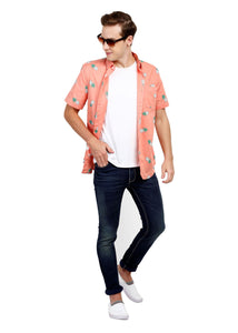 Tusok-pink-pineappleFeatured Shirt, Vacation-Printed Shirtimage-Peach Pineapple (5)