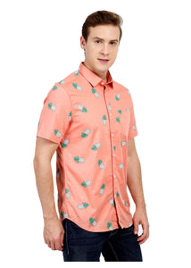 Tusok-pink-pineappleFeatured Shirt, Vacation-Printed Shirtimage-Peach Pineapple (6)