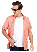 Load image into Gallery viewer, Tusok-pink-pineappleFeatured Shirt, Vacation-Printed Shirtimage-Peach Pineapple (7)