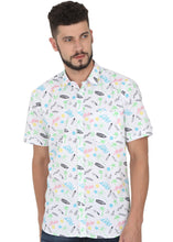 Load image into Gallery viewer, Tusok-prismVacation-Printed Shirtimage-White Text Aloha (1)
