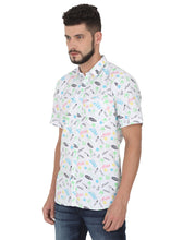 Load image into Gallery viewer, Tusok-prismVacation-Printed Shirtimage-White Text Aloha (2)