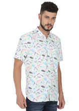 Load image into Gallery viewer, Tusok-prismVacation-Printed Shirtimage-White Text Aloha (3)