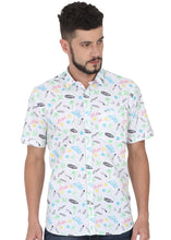 Load image into Gallery viewer, Tusok-prismVacation-Printed Shirtimage-White Text Aloha (7)