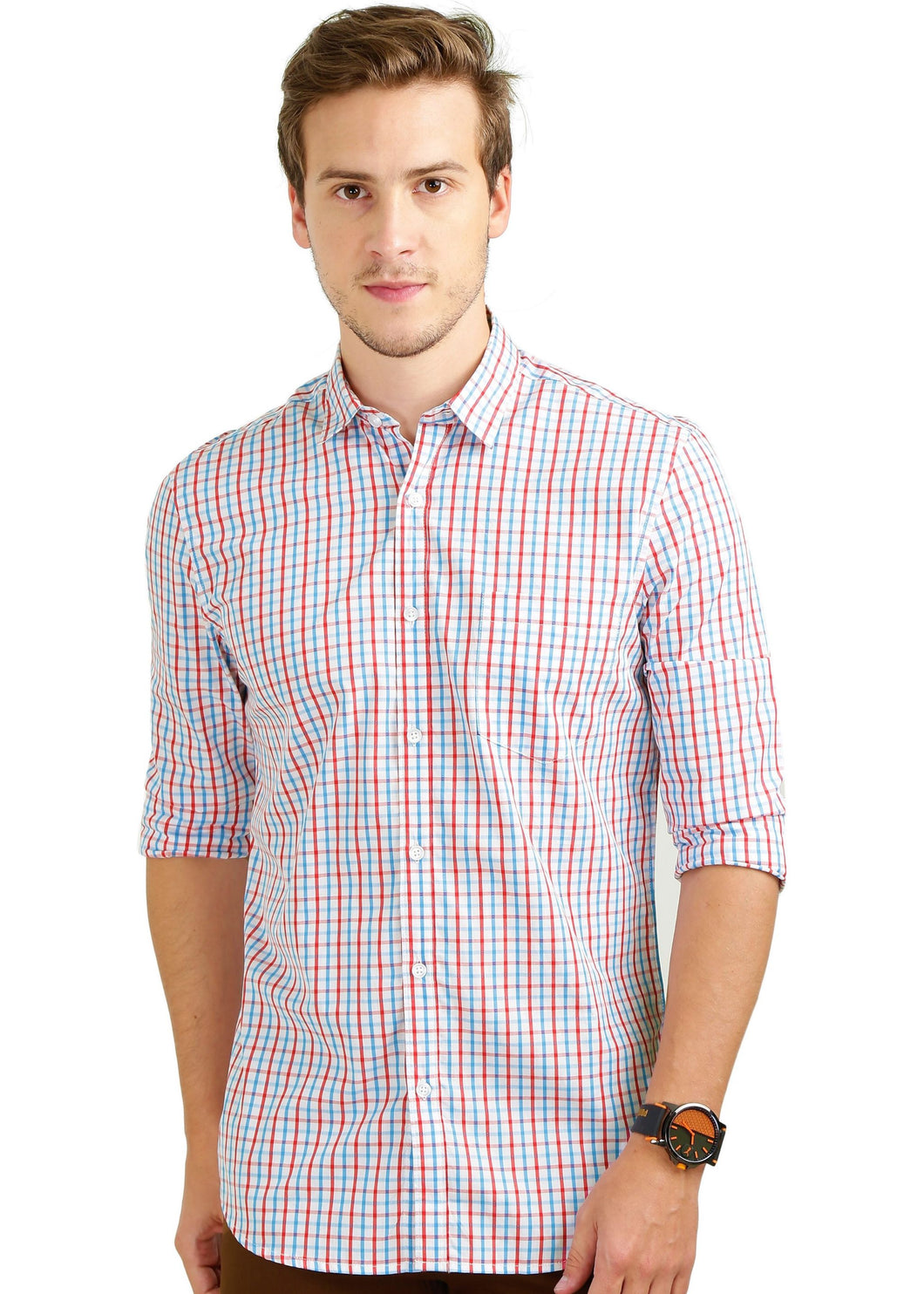 Tusok-red-blue-mazeCheckered Shirtimage-Red Blue Check (1)