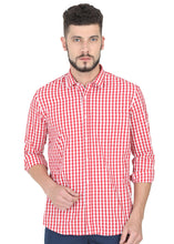 Load image into Gallery viewer, Tusok-red-chessCheckered Shirtimage-Red White Check (1)