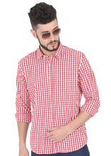 Load image into Gallery viewer, Tusok-red-chessCheckered Shirtimage-Red White Check (2)