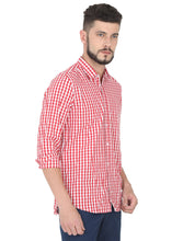 Load image into Gallery viewer, Tusok-red-chessCheckered Shirtimage-Red White Check (3)