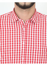 Load image into Gallery viewer, Tusok-red-chessCheckered Shirtimage-Red White Check (5)