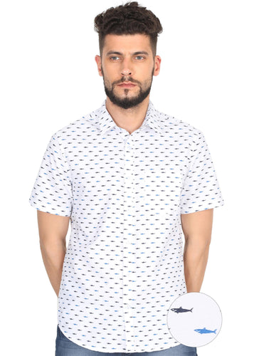 Tusok-white-fishVacation-Printed Shirtimage-Small Fish White (1)
