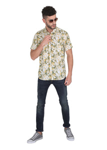 Tusok-yellow-greenVacation-Printed Shirtimage-Yellow Green Bushy (6)