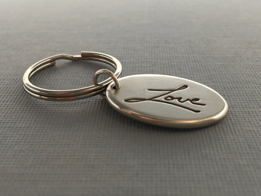 Personalized Handwriting Key Fob