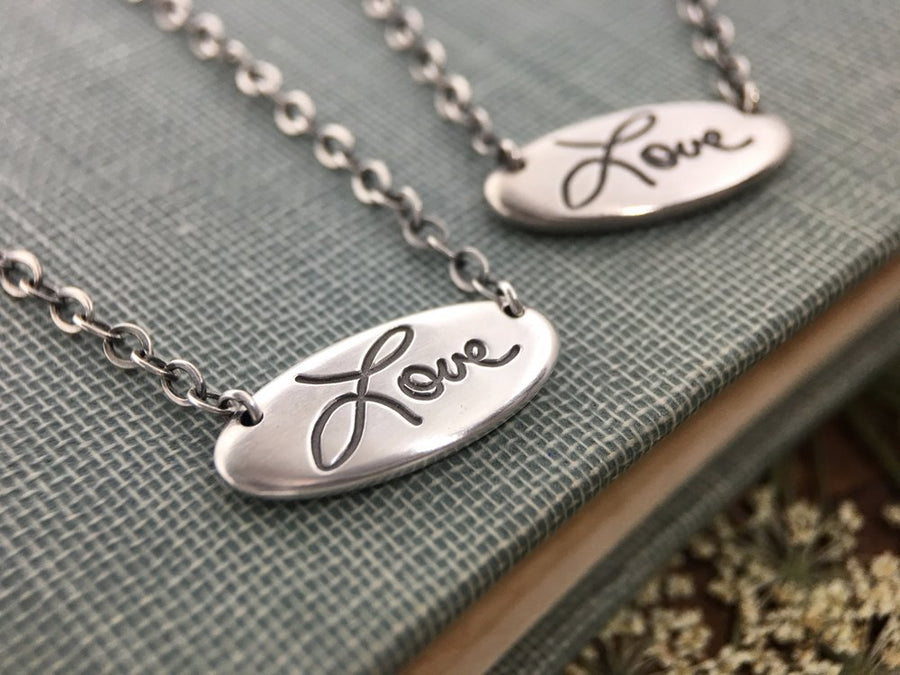 Personalized Handwriting Necklace, Pure Love