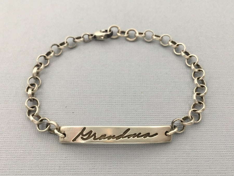 Personalized Handwriting Bracelet, Authentic Love