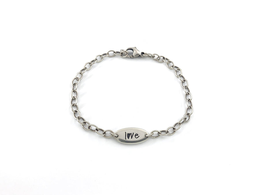 Personalized Handwriting Bracelet, Pure Love