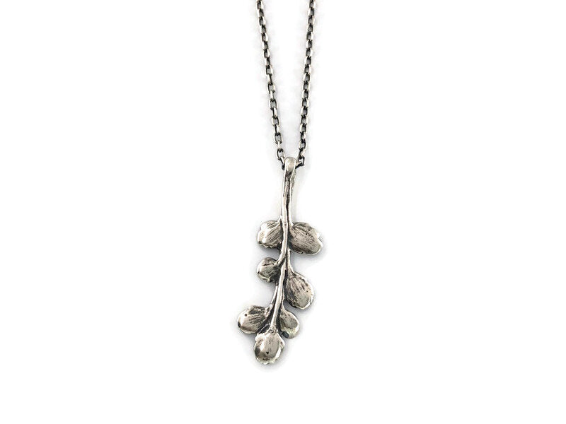 Snowberry Leaf Necklace