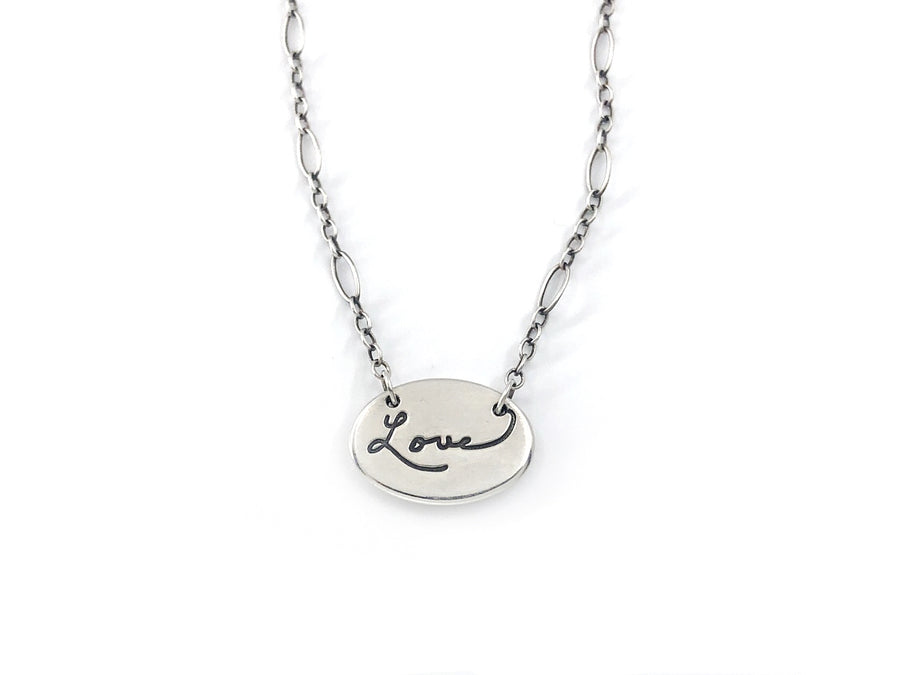 Personalized Handwriting Necklace, Sweet Love