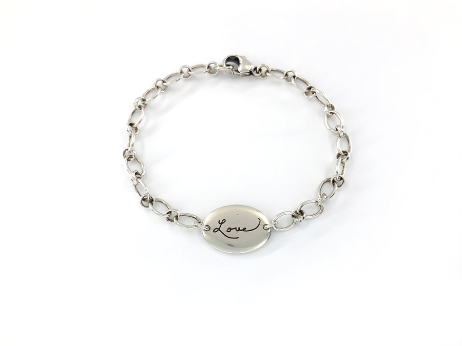 Personalized Handwriting Bracelet, Sweet Love