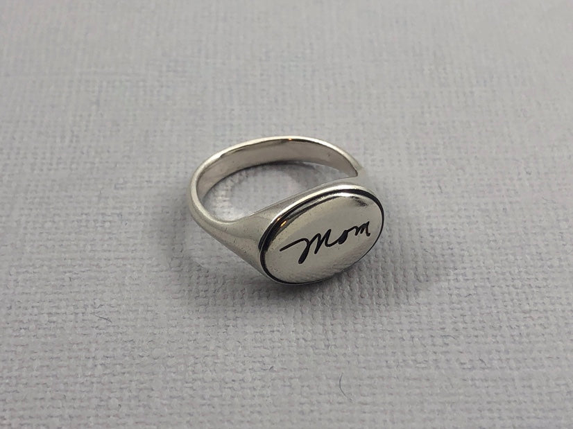 Personalized Handwriting Ring, Sweet Love