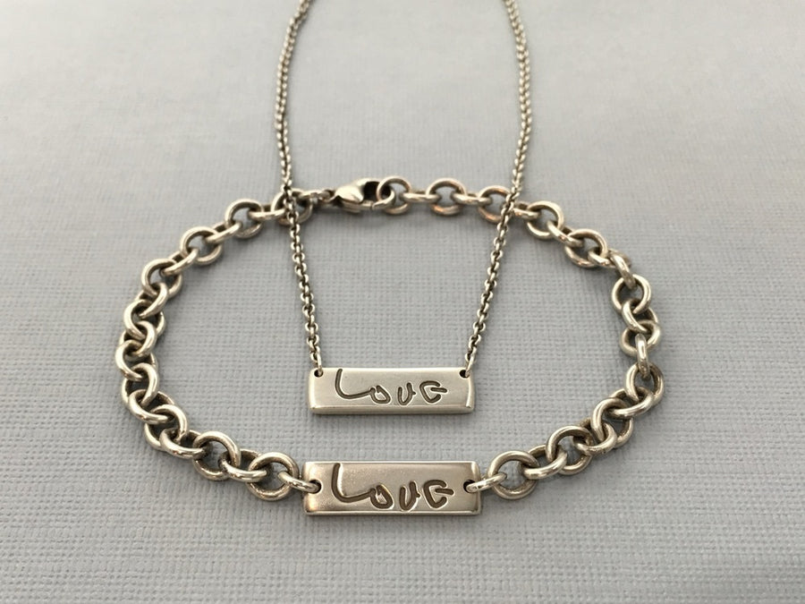 Personalized Handwriting Necklace, True Love
