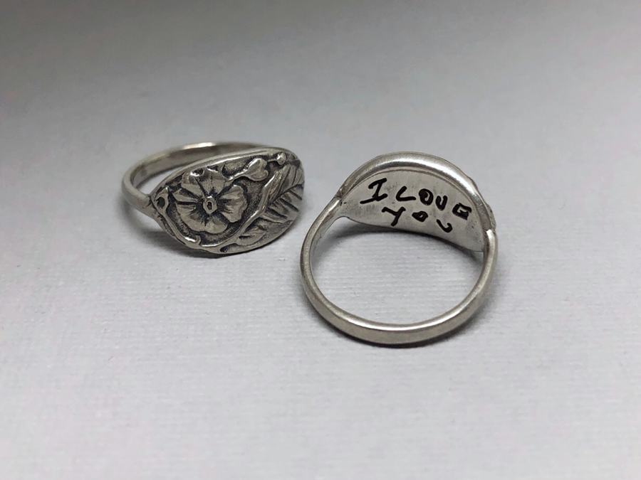 Personalized Handwriting Ring, Where Love Grows