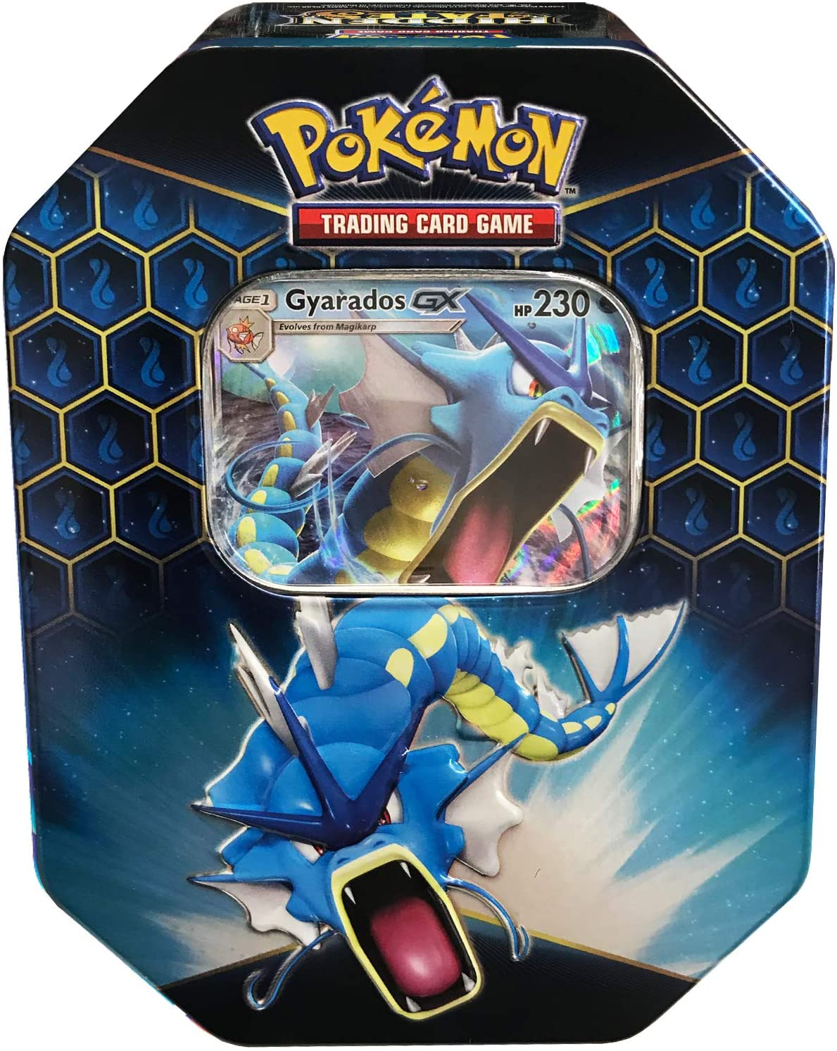 2019 Pokemon Hidden Fates Gyrados Tin - Culture source