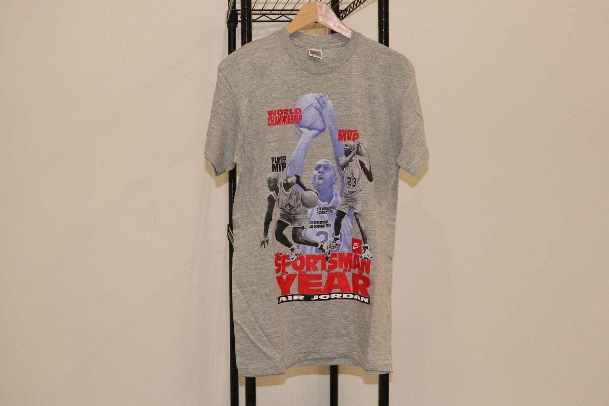 Nike Air Basketball Michael Jordan Sportsman Of The Year Tee Shirt Vintage Single Stitch - Culture source