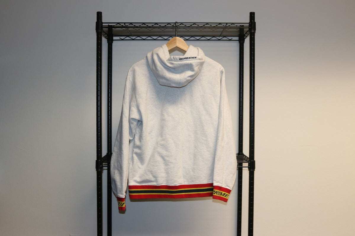 Supreme Gucci Thick Light Grey Sweater Hoodie - Culture source