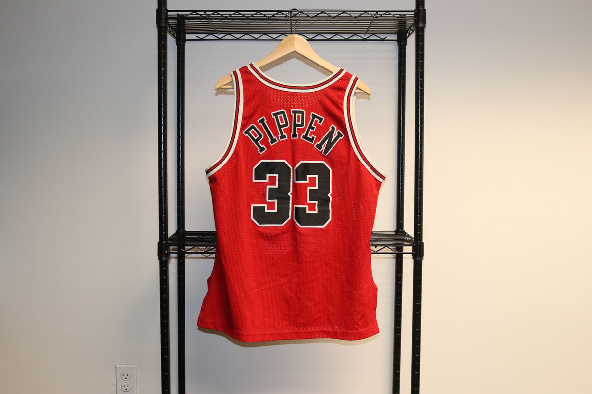 NBA Champion Authentic Sewn On Scottie Pippen #33 Chicago Bulls Basketball Jersey - Culture source
