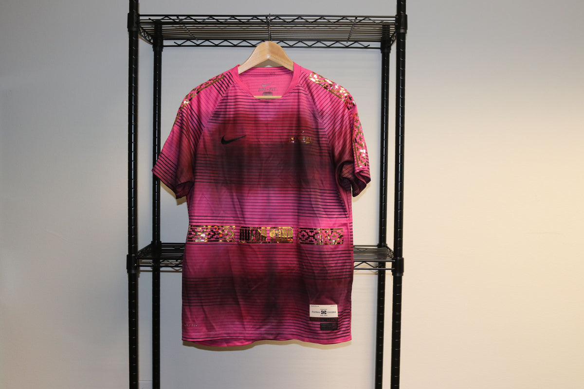 Nike FC Soccer Fly Nowhere  Low level 911 Pro level Reflective Pink Tee Athletic Shirt - Culture source