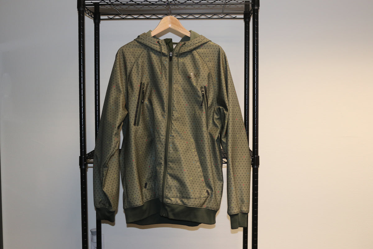 Nike NSW Sports Wear Snow Boarding Army Green Multi Color Rainbow Hoodie Jacket - Culture source