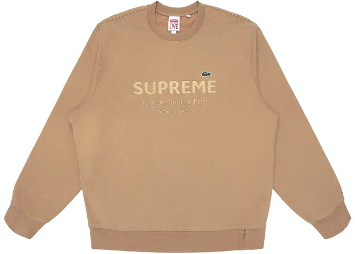 Supreme LACOSTE Crewneck Light Brown - Culture source