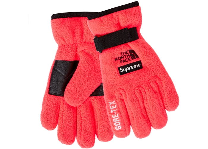 Supreme The North Face RTG Fleece Glove Bright Red - Culture source