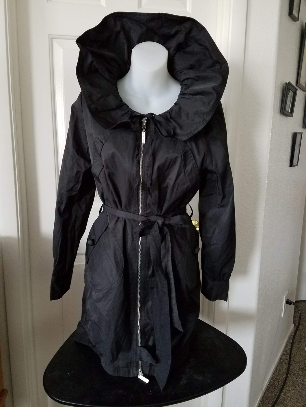 Women's Black Rain Coat Vertigo Paris