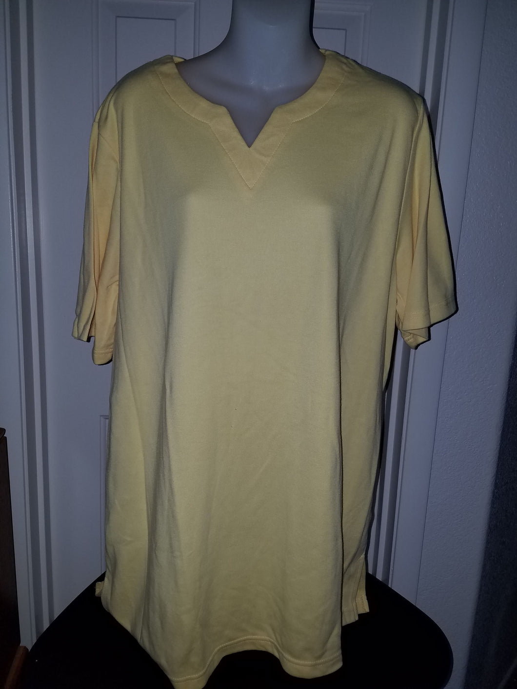 Roaman's Women's Top Yellow Size Large