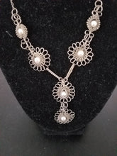 Load image into Gallery viewer, Sterling Silver Flower Necklace