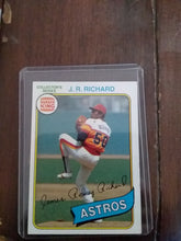 Load image into Gallery viewer, J.R. Richard Topps 1980 Astros Baseball Cards