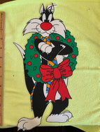 Large Sylvester The Cat Holiday Iron On Applique