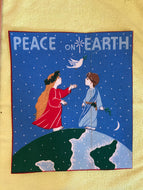 Peace On Earth Large Iron on Applique